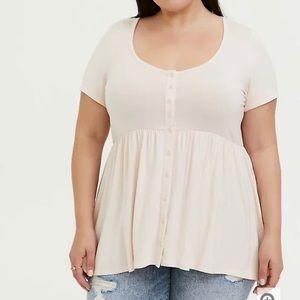 Torrid size 0 button front babydoll shirt